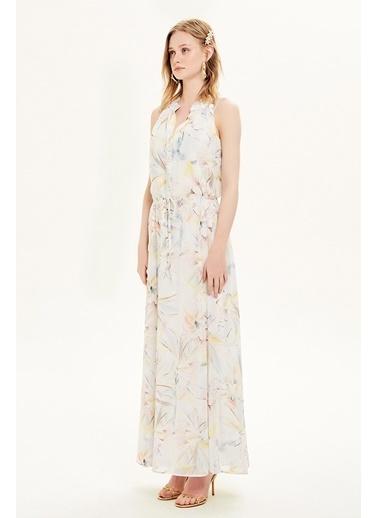 NaraMaxx Karışık Desenli Elbise Renkli